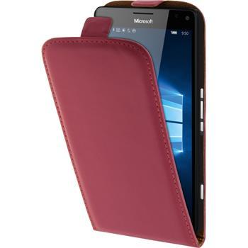 Kunst-Lederhülle Lumia 950 XL Flip-Case pink
