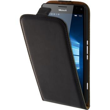 Kunst-Lederhülle Lumia 950 XL Flip-Case schwarz