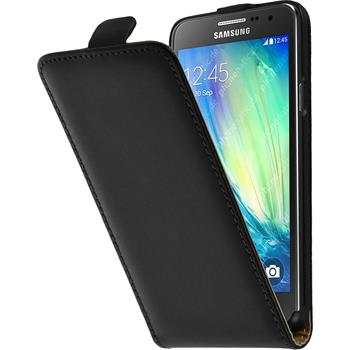 Kunst-Lederhülle Galaxy A3 (A300) Flip-Case schwarz