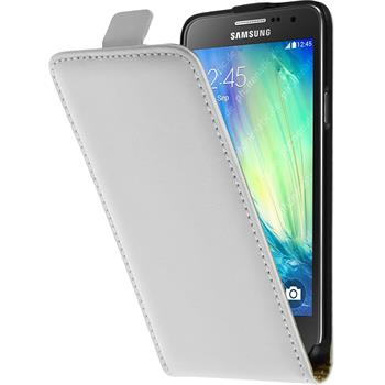 Kunst-Lederhülle Galaxy A3 (A300) Flip-Case weiß