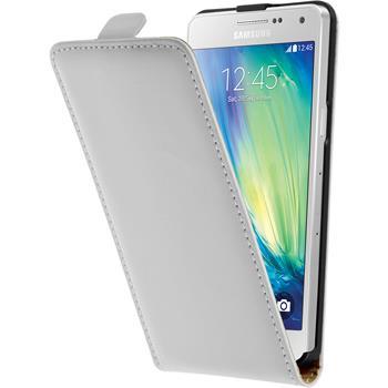 Kunst-Lederhülle Galaxy A5 (A500) Flip-Case weiß