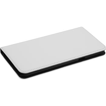 Kunst-Lederhülle Galaxy A8 Book-Case weiß