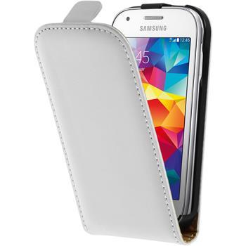 Kunst-Lederhülle Galaxy Ace Style Flip-Case weiß