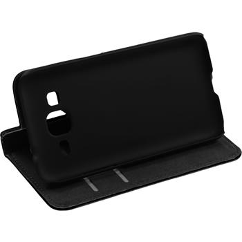 Kunst-Lederhülle Galaxy Core Prime Book-Case schwarz