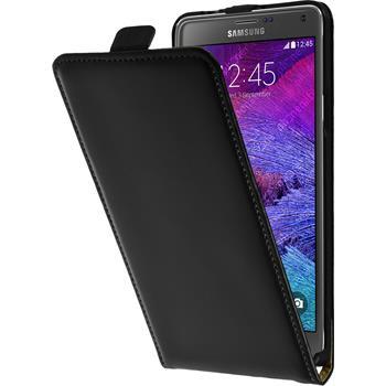 Kunst-Lederhülle Galaxy Note 4 Flip-Case schwarz