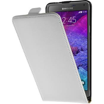 Kunst-Lederhülle Galaxy Note 4 Flip-Case weiß