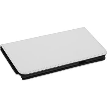 Kunst-Lederhülle Galaxy Note 5 Book-Case weiß + 2 Schutzfolien