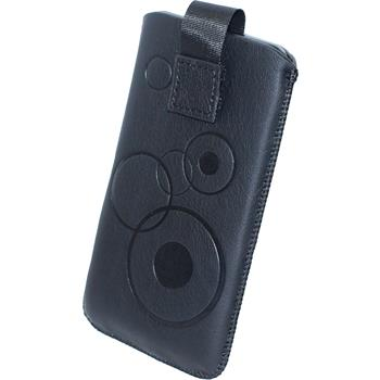 Kunst-Lederhülle Galaxy S2 Tasche schwarz
