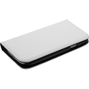 Kunst-Lederhülle Galaxy S3 Neo Book-Case weiß + 2 Schutzfolien