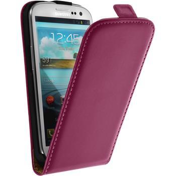 Kunst-Lederhülle Galaxy S3 Neo Flip-Case pink