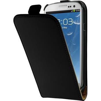 Kunst-Lederhülle Galaxy S3 Neo Flip-Case schwarz