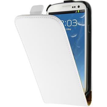 Kunst-Lederhülle Galaxy S3 Neo Flip-Case weiß
