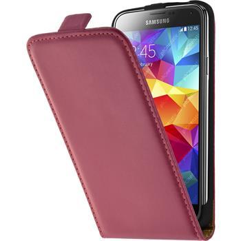 Kunst-Lederhülle Galaxy S5 Flip-Case pink