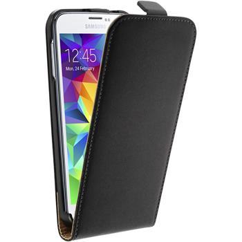 Kunst-Lederhülle Galaxy S5 mini Flip-Case schwarz