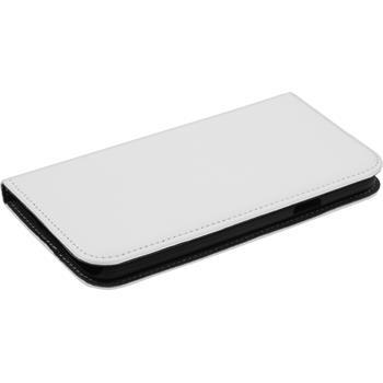 Kunst-Lederhülle Galaxy S5 Neo Book-Case weiß