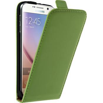 Kunst-Lederhülle Galaxy S6 Flip-Case grün