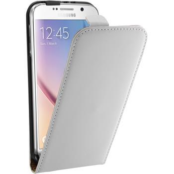 Kunst-Lederhülle Galaxy S6 Flip-Case weiß