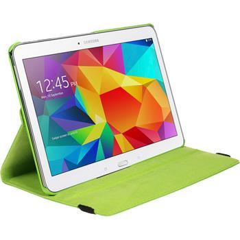 Kunst-Lederhülle für Samsung Galaxy Tab 4 10.1 360° grün + 2 Schutzfolien