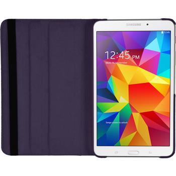 Kunst-Lederhülle für Samsung Galaxy Tab 4 7.0 360° lila + 2 Schutzfolien