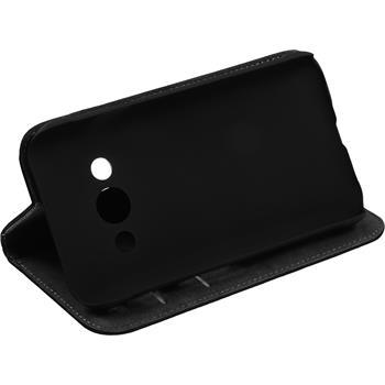 Kunst-Lederhülle Galaxy Xcover 3 Book-Case schwarz