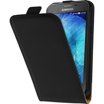 Kunst-Lederhülle Galaxy Xcover 3 Flip-Case schwarz