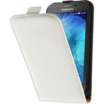 Kunst-Lederhülle Galaxy Xcover 3 Flip-Case weiß