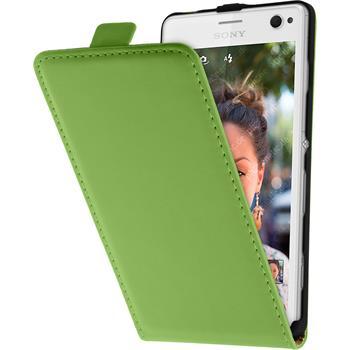 Kunst-Lederhülle Xperia C4 / Dual Flip-Case grün