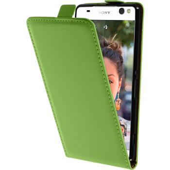 Kunst-Lederhülle Xperia C5 Ultra Flip-Case grün