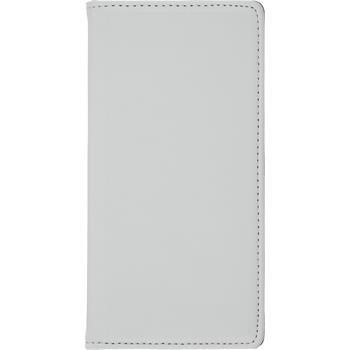 Kunst-Lederhülle Xperia Z3+ / Plus Book-Case weiß