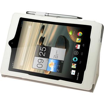 Artificial Leather Case for Acer Iconia A1-810 Premium white