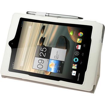 Kunst-Lederhülle Iconia A1-810 Premium weiß