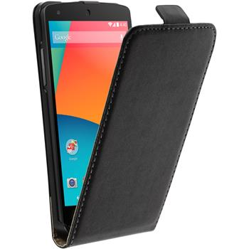 Artificial Leather Case for Google Nexus 5 Flipcase black