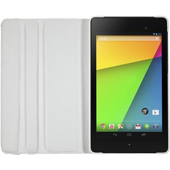 Artificial Leather Case for Google Nexus 7 2013 360° white
