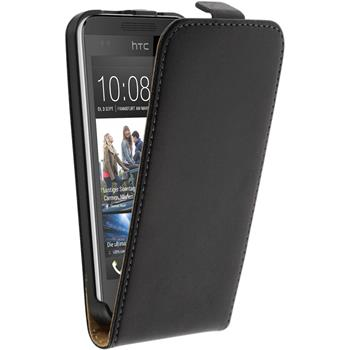 Artificial Leather Case for HTC Desire 300 Flipcase black
