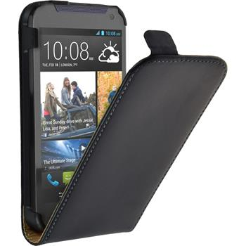 Artificial Leather Case for HTC Desire 310 Flipcase black