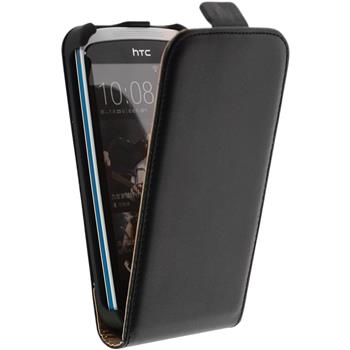Artificial Leather Case for HTC Desire 500 Flipcase black