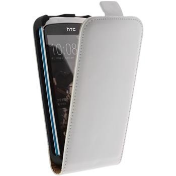 Artificial Leather Case for HTC Desire 500 Flipcase white
