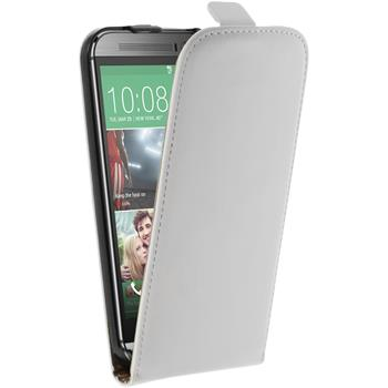 Artificial Leather Case for HTC One M8 Flipcase white