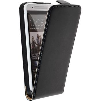 Artificial Leather Case for HTC One Mini Flipcase black