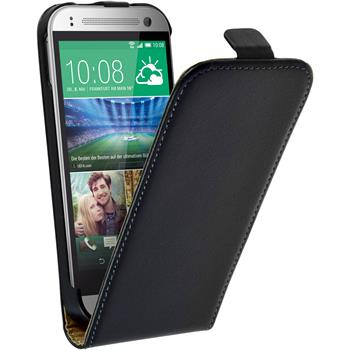 Artificial Leather Case for HTC One Mini 2 Flipcase black