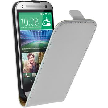 Artificial Leather Case for HTC One Mini 2 Flipcase white