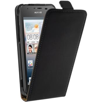 Artificial Leather Case for Huawei Ascend G510 Flipcase black