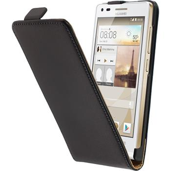Artificial Leather Case for Huawei Ascend G6 Flipcase black