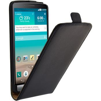 Artificial Leather Case for LG G3 Flipcase black