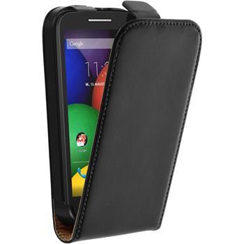 Artificial Leather Case for Motorola Moto E Flipcase black