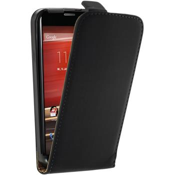Artificial Leather Case for Motorola Moto X Flipcase black
