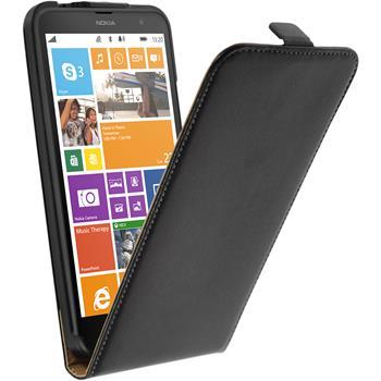 Kunst-Lederhülle Lumia 1320 Flip-Case schwarz