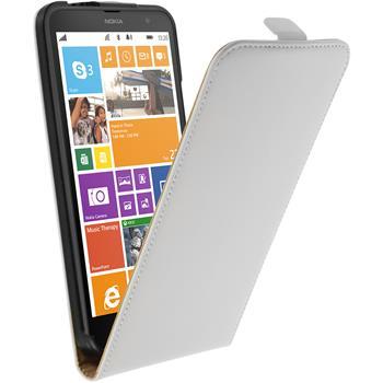 Kunst-Lederhülle Lumia 1320 Flip-Case weiß