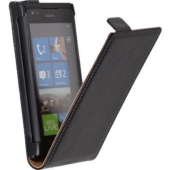 Artificial Leather Case for Nokia Lumia 900 Flipcase black