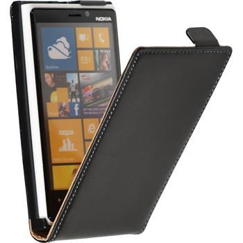 Artificial Leather Case for Nokia Lumia 920 Flipcase black